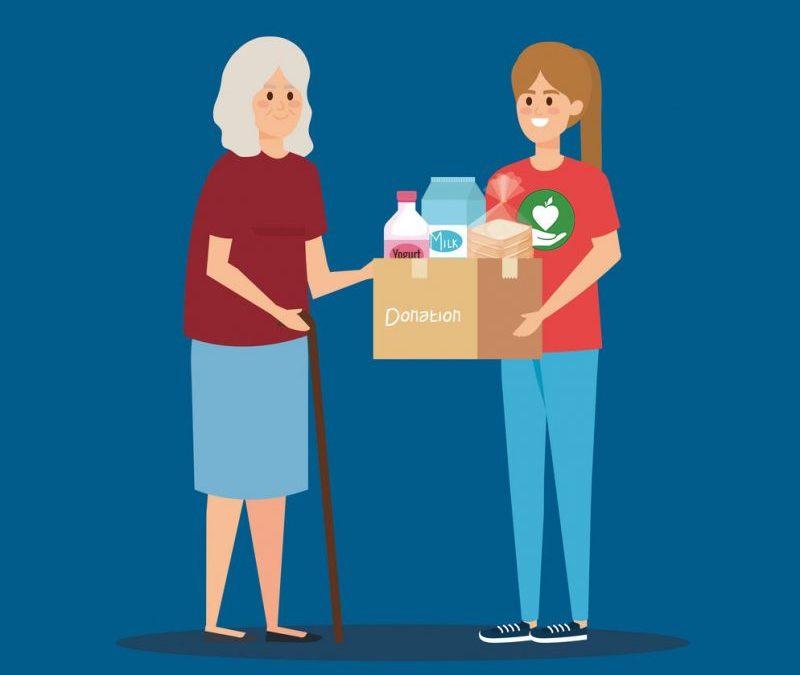 Кампания за раздаване на хранителни продукти на семейства засегнати от извънредното положение